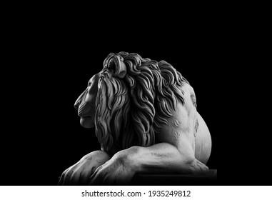 Lion 3d render art and concept lighting mode