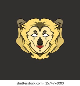 Lion face emblem logo creative