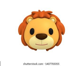 Lion head in 3d rendering.