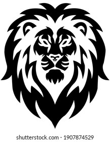 Lion head logo white background for printing on t-shirts