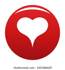 Lion Heart icon. Simple illustration of lion heart icon for any design red