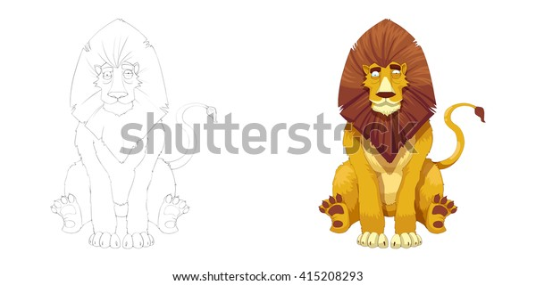 Lion King Coloring Book Outline Sketch Stock Illustration 415208293 His songs are catchy, and he was clever enough to hit simba in the face with fire dust in the final battle. https www shutterstock com image illustration lion king coloring book outline sketch 415208293