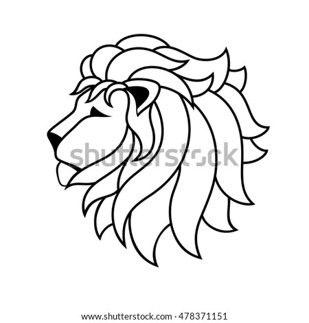 lion line drawing template tshirts coloringのイラスト素材 478371151
