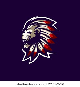 lion logo design art illustration