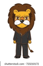 Lion man , character , digital painting , clip art.