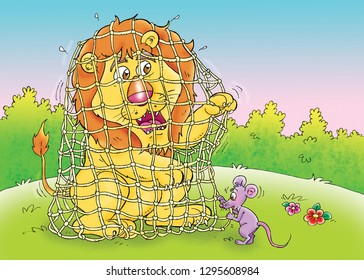 Lion and Mouse Images, Stock Photos & Vectors | Shutterstock