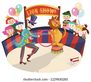 Lion Show at the Circus