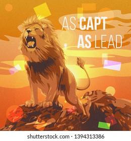 Lion Wild Illustration Creative Artwork