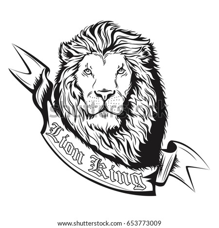 Lions Head Illustration Coloring Page