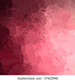liquid glass pink background with glassy texture designs and dark pink shadows on border of frame