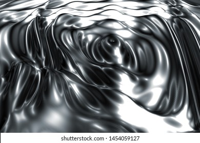 Liquid metal mercury silver ripple abstract background