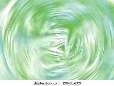 Liquid Radial Green Marble Background with Pearl finish texture spiral liquid illustration oil background