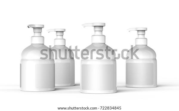 Liquid Soap Lotion Bottle 3d Rendering Stock Illustration 722834845