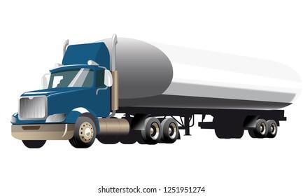 Liquid Tank Truck BLUE