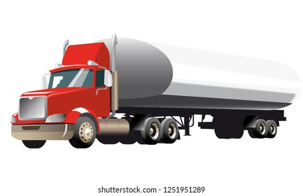 Liquid Tank Truck RED