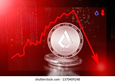 Lisk cryptocurrency value price fall drop; lisk price down