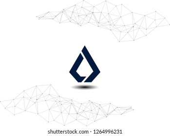 Lisk LSK cryptocurrency logo network illustration