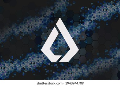 Lisk, LSK digital currency with Honeycomb - money and technology worldwide network, Blockchain, Bitcoin is Electronic currency Internet finance