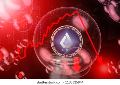 LISK (LSK) in a soap bubble. Risks and dangers of investing to lisk. Collapse of the exchange rate. Unstable concept