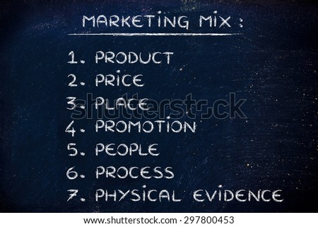 marketing mix process and physical evidence