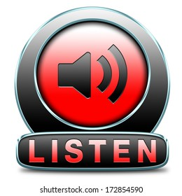 Listen live stream music song audio or radio button