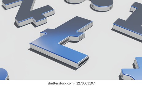 Lite coin silver symbol,  3D rendering