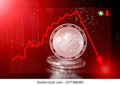 Litecoin Cash cryptocurrency value price fall drop; litecoin cash price down
