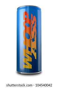 I literal depiction of a can of energy drink named the slang term whoopass, which warns of imminent danger