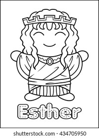Little Bible Character Coloring Activity Esther
