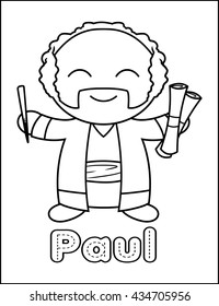 Little Bible Character Coloring Activity Paul