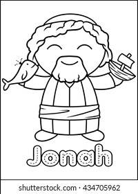 Little Bible Character Coloring Activity Jonah