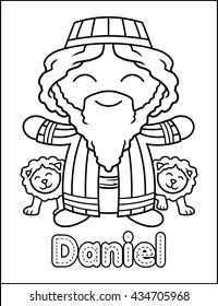 Little Bible Character Coloring Activity Daniel