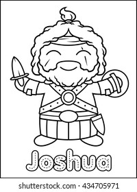 Little Bible Character Coloring Activity Joshua