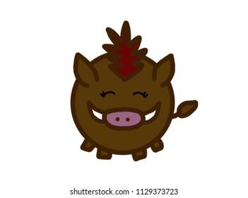 a little boar smail