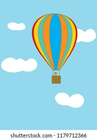 Little horse in air balloon