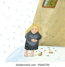 The little match girl on the street - Hans Christian Andersen tale