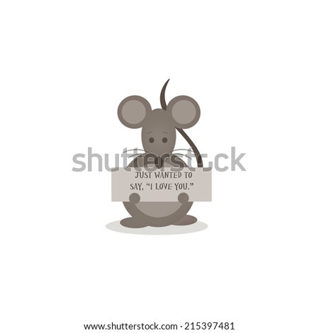 Little Mouse Just Wanted Say I Stock Illustration Royalty Free