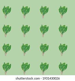 A Little Pastel Motif : Seamless Spinach Pattern