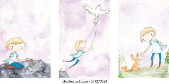 The little prince watercolor