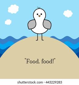 """Little Seagull - """"Food, food!"""""""