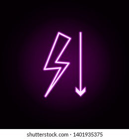 little tension neon icon. Elements of arrow and object set. Simple icon for websites, web design, mobile app, info graphics