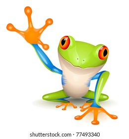 Cartoon Tree Frog Images Stock Photos Vectors Shutterstock Choose from 450000+ cartoon tree frog graphic resources and download in the form of png, eps, ai or psd. https www shutterstock com image illustration little tree frog on white background 77493340