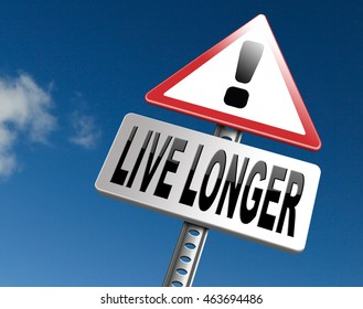 live longer sign eternal youth by healthy liffestyle 3D illustration