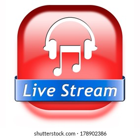Live Stream Listening Images, Stock Photos & Vectors