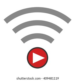 Live Streaming Icon on white background