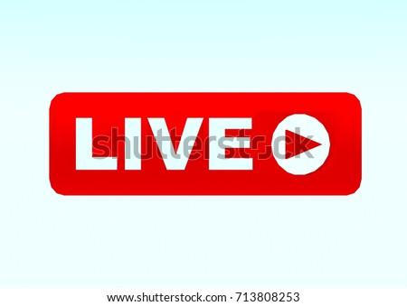 Live streaming iconlive logo badgelive broadcasting em ilustrao live streaming iconlive logo badgelive broadcasting or online tv stream stopboris Images