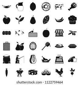 Livelihood icons set. Simple set of 36 livelihood icons for web isolated on white background