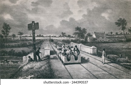 The Liverpool Manchester railway was opened on September 15 1830. The double track railroad was 31 miles long.