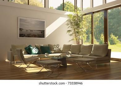 Living room Barcelona city