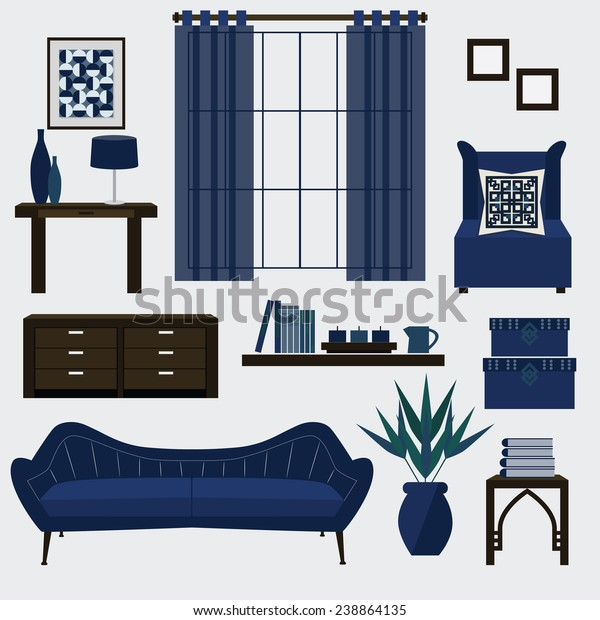 Stupendous Living Room Furniture Accessories Color Navy Stock Machost Co Dining Chair Design Ideas Machostcouk